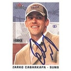 Zarko Cabarkapa Phoenix Suns 2003 Fleer Tradition Rookie Autographed Card Nice Card This item comes with a certific