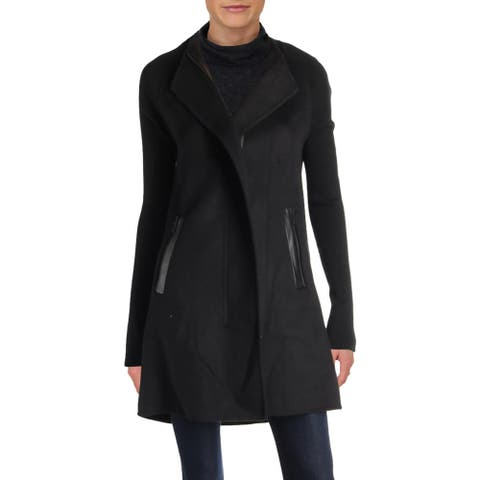 Ivanka Trump Womens Midi Coat Fall Wool Blend