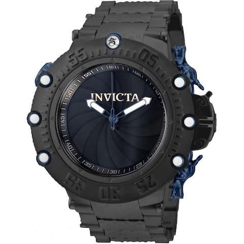 Invicta Men's 32955 'Subaqua' Black Stainless Steel Watch - Blue