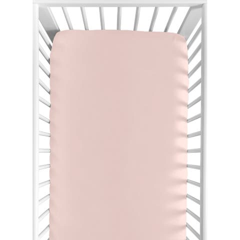 Sweet Jojo Designs Solid Blush Pink Celestial Collection Fitted Crib Sheet