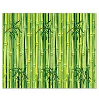 Pack of 6 Jungle Bamboo  Photo Backdrop Wall Decorations 4' x 30' - Green