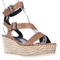 Elie Tahari Mustique Strappy Platform Sandals, Crema