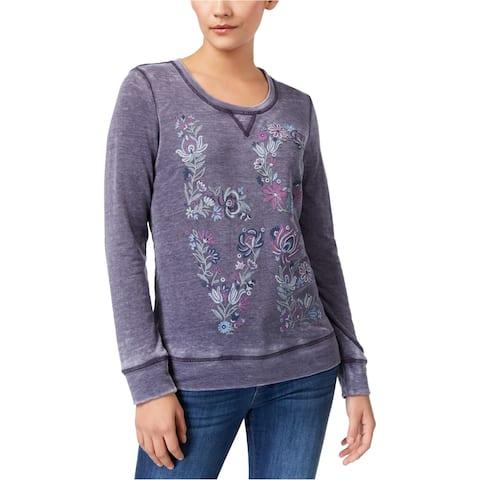 Style&Co. Womens Puff Paint Sweatshirt