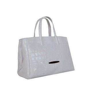 Pierre Cardin PC 1311 BIANCO Made in Italy Leather White Zip Structured Tote
