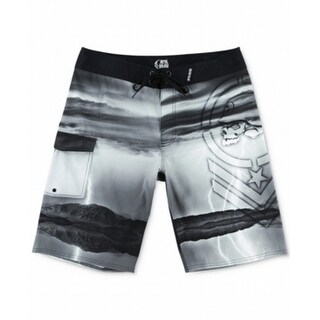2517e1e65cbcb Shop Metal Mulisha NEW Black Mens Size 30 Lightning Drawstring Board Shorts  - Free Shipping On Orders Over $45 - Overstock - 19450882