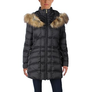 Betsey Johnson Womens Parka Quilted Lace-Up