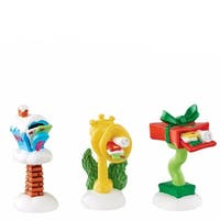 Department 56 Grinch Villages From Wornament-Ville Wacky Mailboxes Accessory 1.15 In