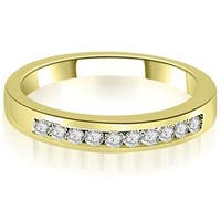 0.25 cttw. 14K Yellow Gold Channel Set Round Cut Diamond Wedding Band,HI,SI1-2