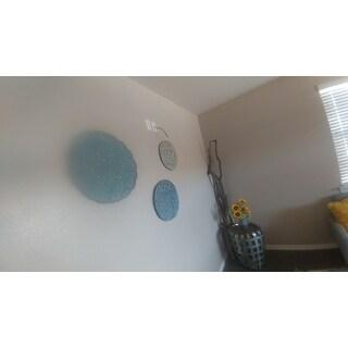 Madison Park Rosalie Blue Iron Painted Wall Decor Set of 3