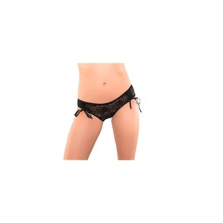 Seven til Midnight Lace Boyshorts with Front Ruching - Black