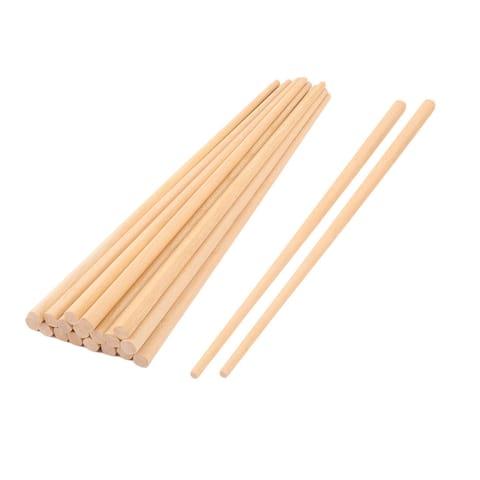Wood Tableware Dinnerware Vegetable Noodles Chopsticks 25cm Length 10 Pairs Beige
