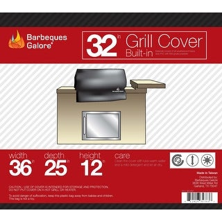 "Barbeques Galore 32"" Grill Cover for Built-In Gas Grill"