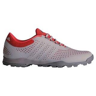 New Adidas Women's Adipure Sport Grey/Core Pink/Dark Silver Metallic Golf Shoes Q44741