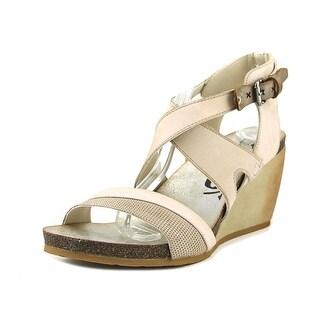 OTBT Freedom Open Toe Leather Wedge Sandal