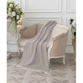 Link to Beige and Ivory Diamonds Fringe Throw Blanket Similar Items in Blankets & Throws