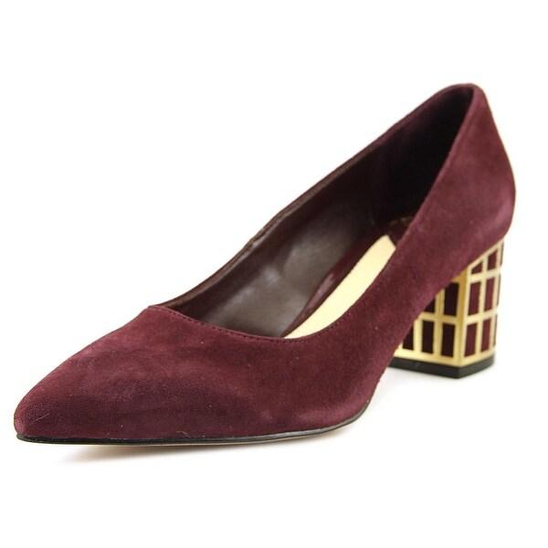 Brian Atwood Karina Women Pointed Toe Suede Burgundy Heels