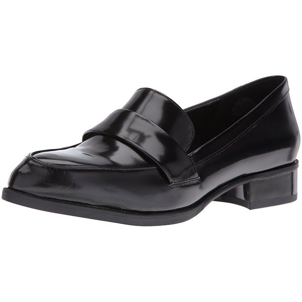 Nine West Womens Nextome Leather Pointed Toe Loafers