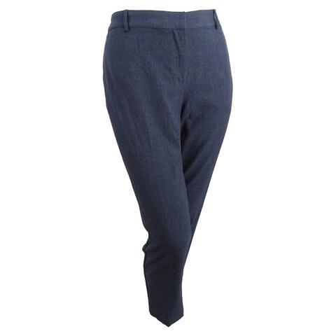 kensie Women's Crepe Ankle Pants (XXL, Heather Grey) - Heather Grey - XXL