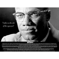 Malcolm X Poster Truth is On Side of the Oppressed (18x24)