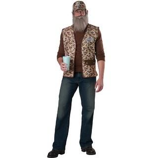 InCharacter Uncle Si Adult Costume - Brown - One size