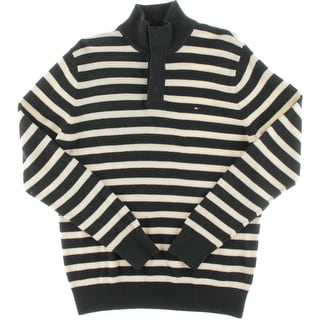 Tommy Hilfiger Mens Striped Long Sleeves Pullover Sweater