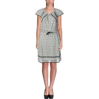 Timo Weiland Womens Eyelet Cap Sleeves Wear to Work Dress - 4