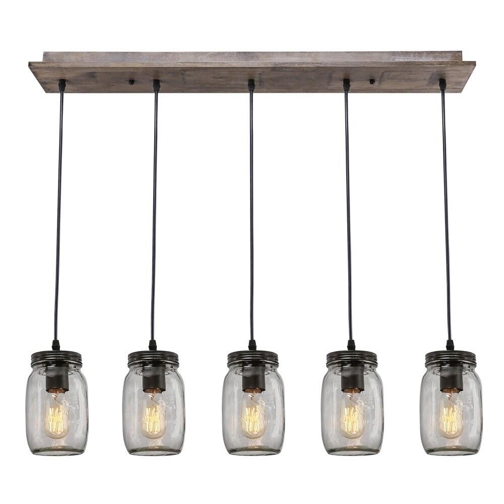 Mason Jar Light Fixture