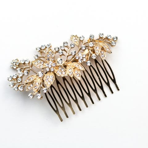 Floral Bling Hair Comb, Hair Decoration Accessory Bridal Hair Accessory