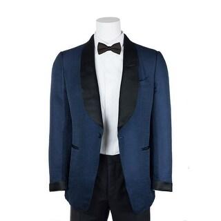 Tom Ford Blue Shelton Base Textured Lapel Tuxedo Jacket - 40r