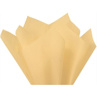 """Pack of 480, Solid French Vanilla Tissue Paper 20 x 30"""" Sheet Ream Made From 100% Post Industrial Recycled Fibers"""