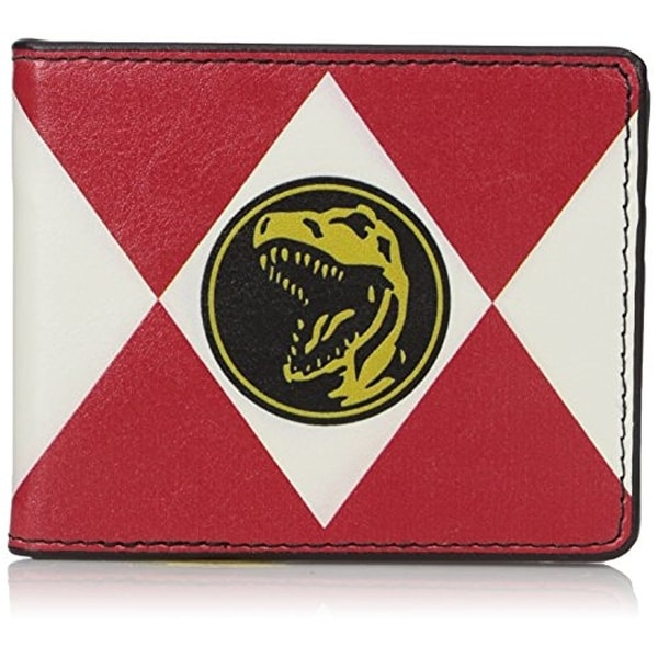 Diamond Red Ranger Tyrannosaurus Power Logo Bi-Fold Wallet