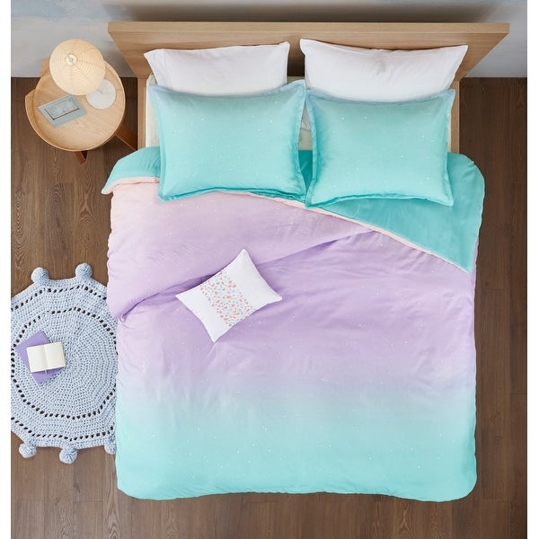 Sparkle Metallic Glitter Printed Reversible Duvet Cover Set by Mi Zone. Opens flyout.