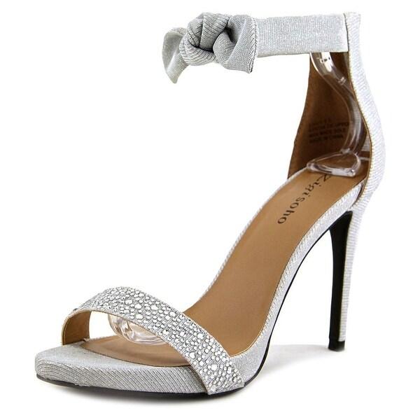 Zigi Soho Sauly Women Open Toe Canvas Silver Sandals