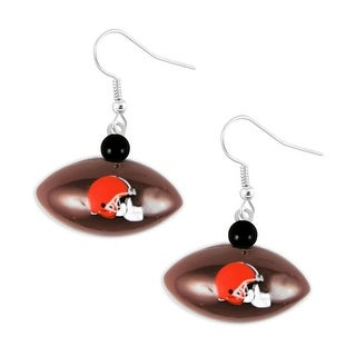 Cleveland Browns Mini Football Dangle Earring