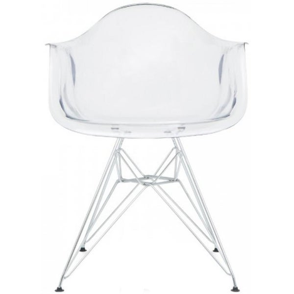 Clear Kitchen Chairs: Shop 2xhome Clear Modern Plastic Armchair With Arms Wired