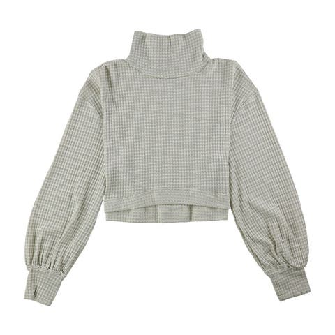 Free People Womens Cropped Turtleneck Pullover Sweater