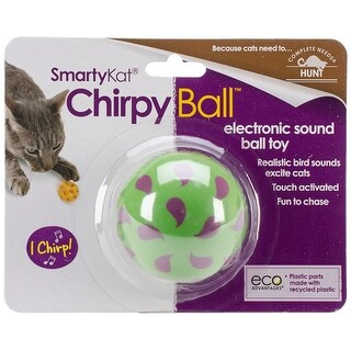 SmartyKat ChirpyBall Electronic Sound Toy-