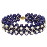 Rose Montee Right Angle Weave Bracelet - Royal Seas - Exclusive Beadaholique Jewelry Kit