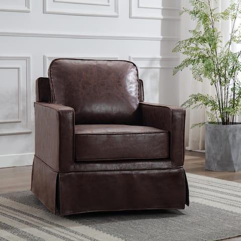 WOVENBYRD Classic Club Swivel Chair