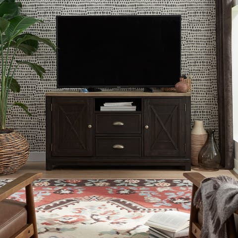 Heatherbrook Charcoal and Ash 56-inch TV Console