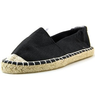 Qupid Sunshine 01 Women  Open-Toe Canvas Black Espadrille