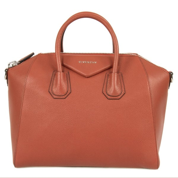 dcbc30b260e Shop Givenchy Antigona Sugar Goatskin Leather Satchel Bag - Free ...