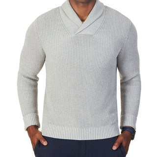 Nautica NEW Gray Heather Mens Size Large L Shawl Collar V-Neck Sweater