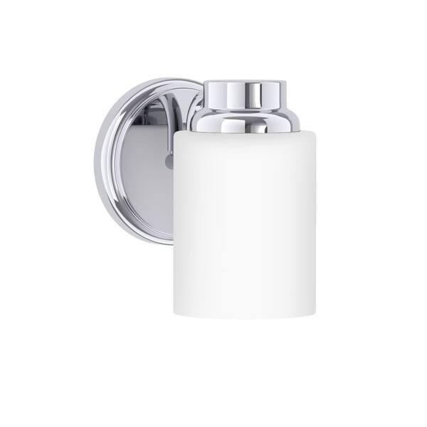 Park Harbor Phvl2017 Thompson 7 Tall 1 Light Bathroom Fixture Polished Chrome N A