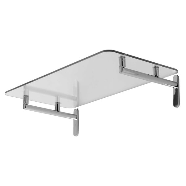 "Ginger 0240-20 20"" Tempered Glass Hotel Shelf from the Sine Collection"