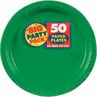 """Festive Green - Big Party Pack Luncheon Plates 7"""" 50/Pkg"""