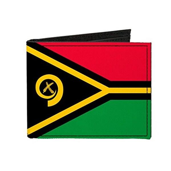 Buckle-Down Canvas Bi-fold Wallet - Vanuatu Flag Accessory
