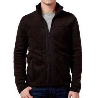 Tommy Hilfiger NEW Black Mens Size Medium M Full Zip Fleece Jacket