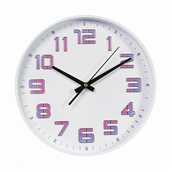 """What on Earth LED Color Changing Wall Clock - Includes Remote, USB and Wall Charging Cable - 12"""" Diameter"""