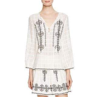 Joie Womens Casual Top Embroidered Boho - s